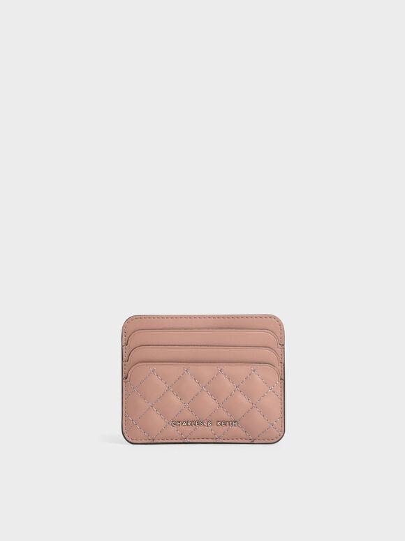 Quilted Card Holder, Blush, hi-res