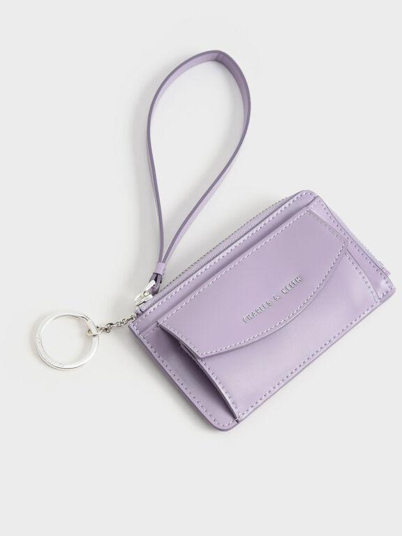 Wristlet Card Holder, Lilac, hi-res