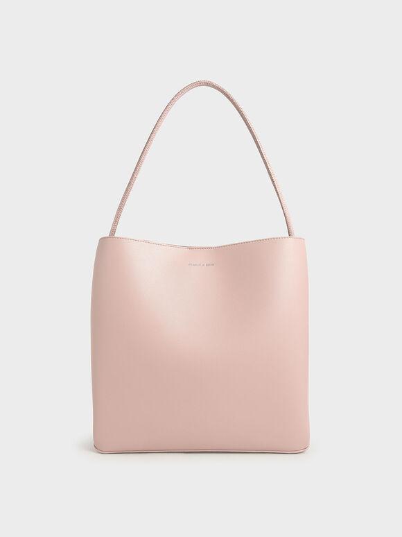 Double Handle Tote Bag, Pink, hi-res