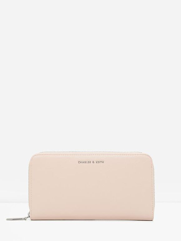 Mini Long Wallet, Light Pink, hi-res