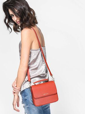 Front Flap Sling Bag, Brick, hi-res