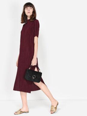 Ring Detail Handbag, Black, hi-res