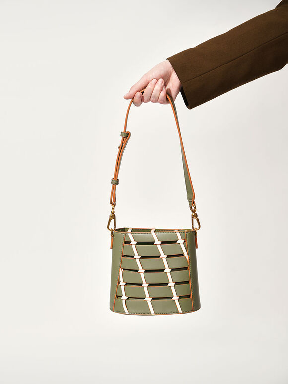 Knot Detail Bag, Olive, hi-res