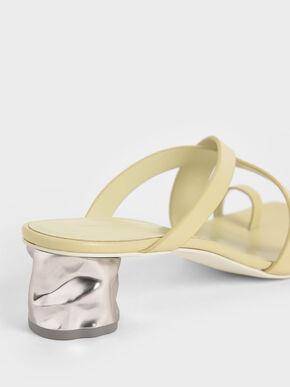 Toe Loop Criss-Cross Sandals, Yellow, hi-res