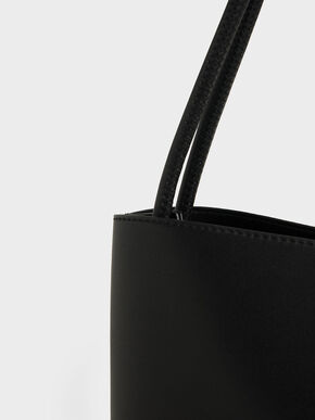 Double Handle Tote Bag, Black, hi-res