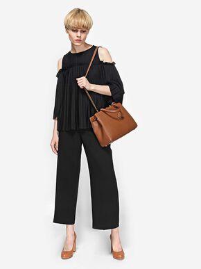 Classic Structured Handbag, Brown, hi-res