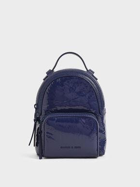 Patent Backpack, Dark Blue, hi-res