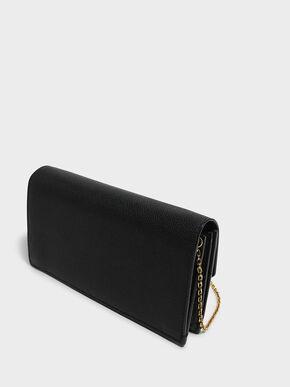 Classic Push-Lock Wallet, Black, hi-res