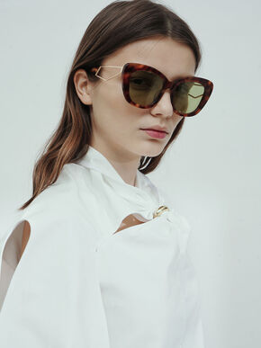 Tortoiseshell Acetate Butterfly Sunglasses, T. Shell, hi-res