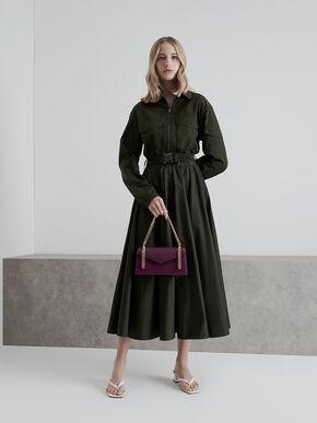 Envelope Chain Handle Bag, Purple, hi-res