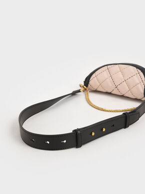 Half-Moon Crossbody Bag, Light Pink, hi-res