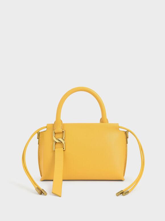 Fringe Detail Crossbody Bag, Mustard, hi-res