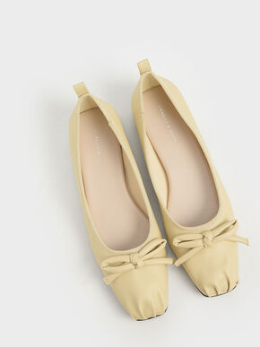 Bow Ballerinas, Yellow, hi-res