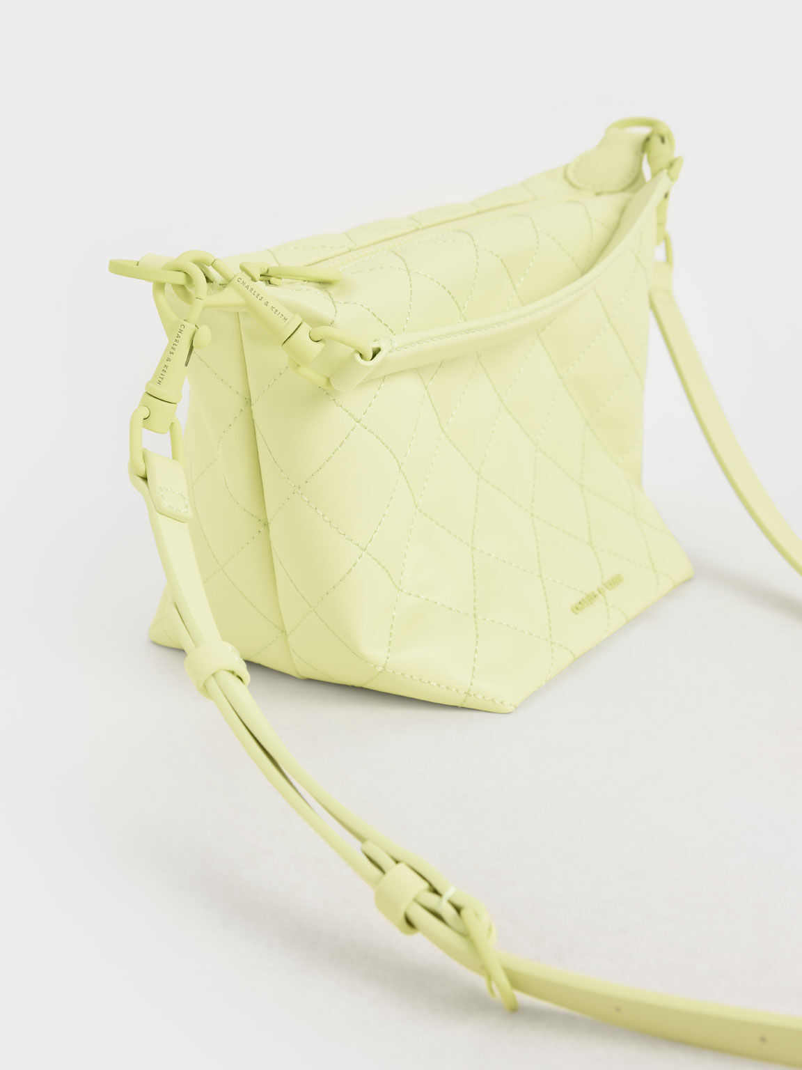 Quilted Hobo Bag, Yellow, hi-res