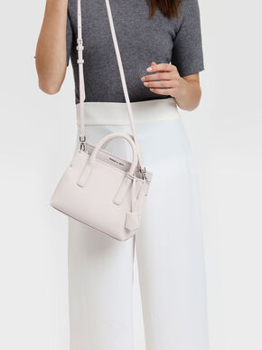 Classic Top Handle Bag, Light Pink, hi-res