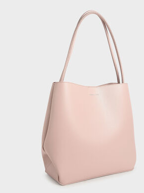 Double Handle Tote Bag, Pink, hi-res