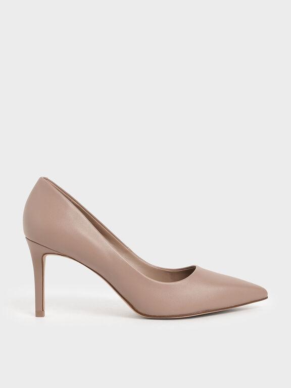 Pointed Toe Pumps, Pink, hi-res