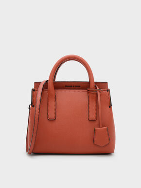 Classic Top Handle Bag, Brick, hi-res
