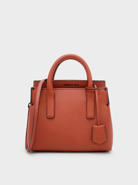 Classic Top Handle Bag, Brick, hi-res
