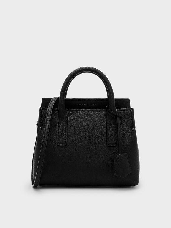 Classic Top Handle Bag, Black, hi-res