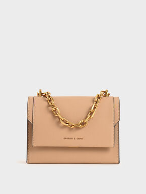 Chain Handle Evening Bag