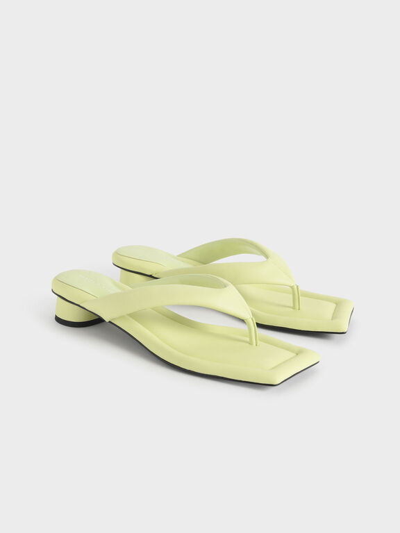 Padded Thong Sandals, Yellow, hi-res