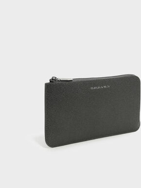 Zip Wallet, Pewter, hi-res