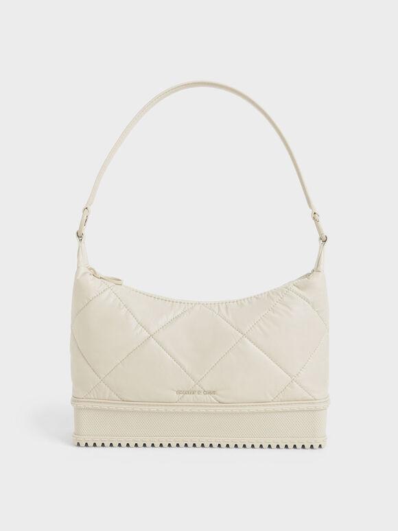 Puffy Shoulder Bag, Chalk, hi-res