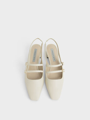 Slingback Mary Janes, Chalk, hi-res