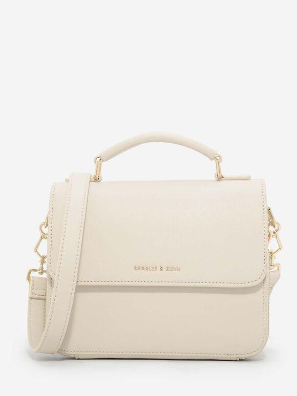 Front Flap Sling Bag, Ivory, hi-res