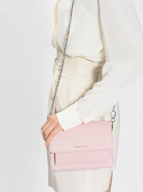 Stitch Detail Crossbody Bag, Blush, hi-res