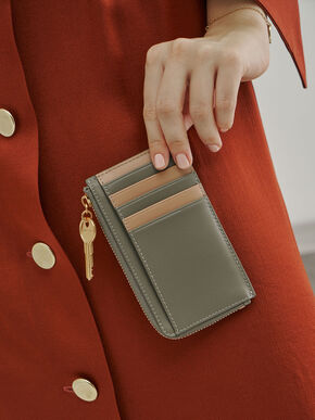 Zip Around Mini Wallet, Sage Green, hi-res