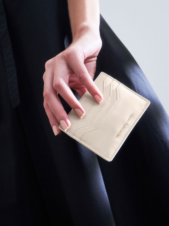 Multi-Slot Card Holder, Cream, hi-res