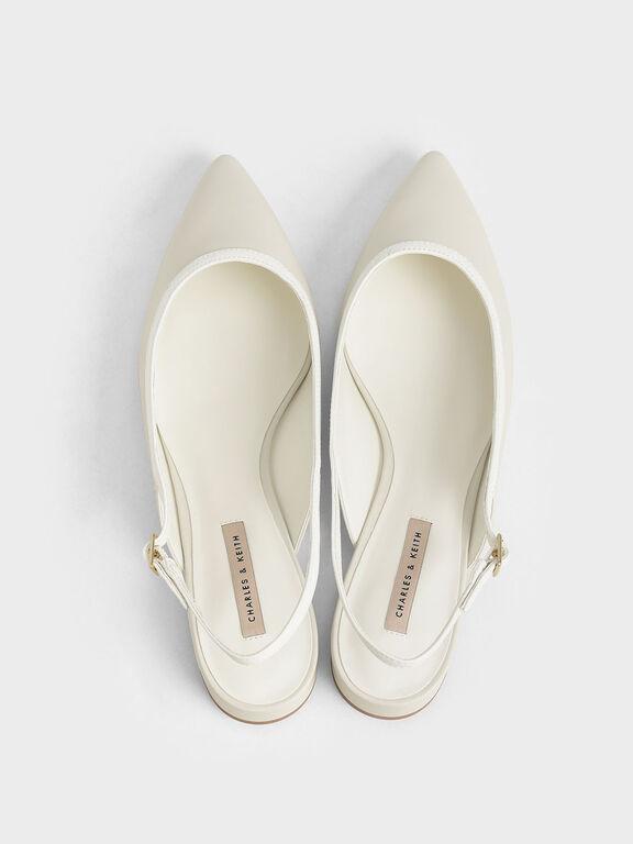 Ballerina Slingback Flats, Chalk, hi-res