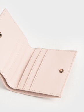 Zip Around Short Wallet, Light Pink, hi-res