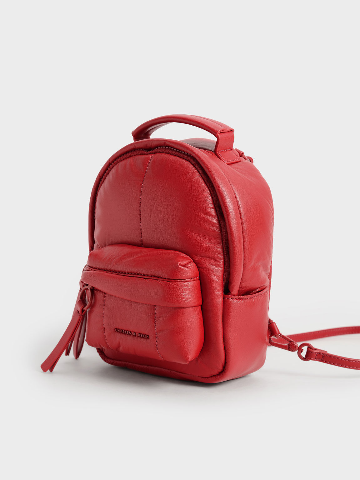 Puffy Backpack, Red, hi-res
