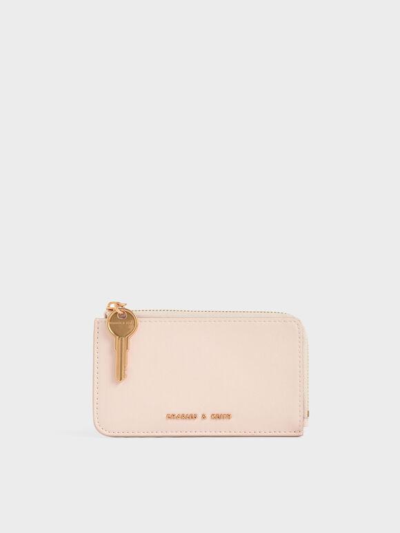 Zip-Around Mini Wallet, Light Pink, hi-res