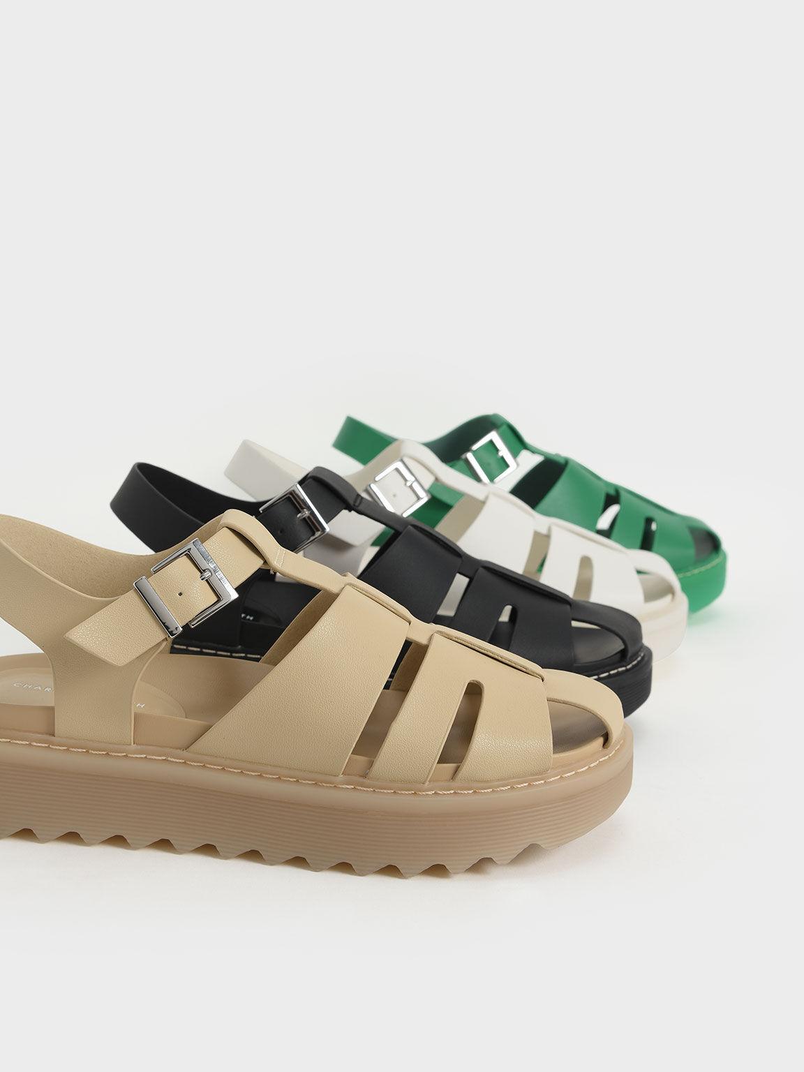 Cut-Out Sports Sandals, Sand, hi-res