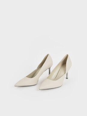 Stiletto Heel Pumps, Chalk, hi-res