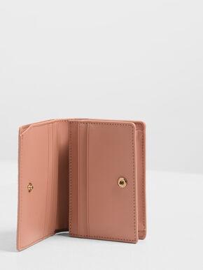 Classic Snap Button Wallet, Clay, hi-res