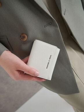 Mini Snap-Button Small Wallet, White, hi-res