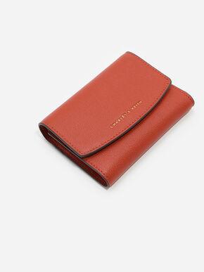 Mini Front Flap Wallet, Brick, hi-res