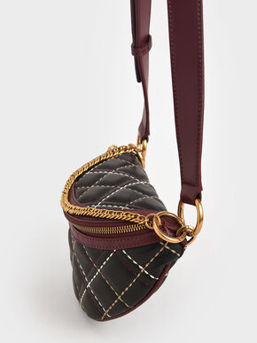 Half-Moon Crossbody Bag, Black, hi-res