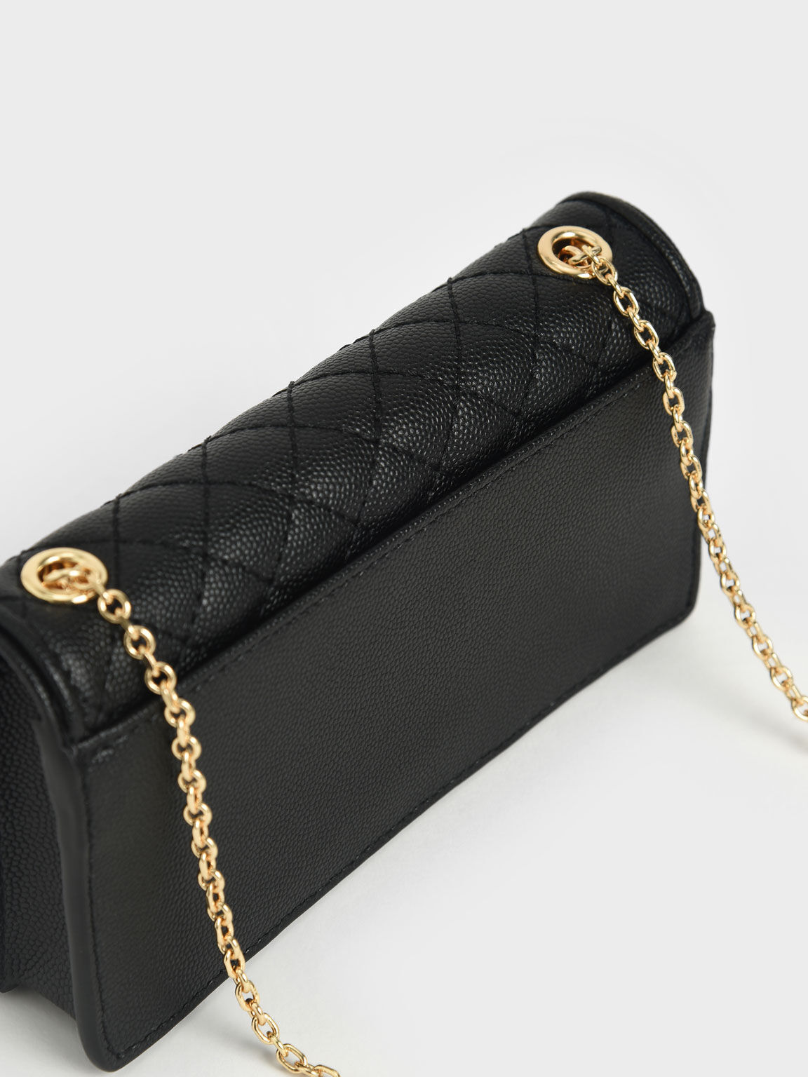 Quilted Pouch, Black, hi-res