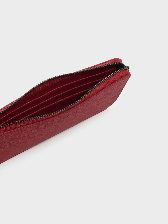 Zip Wallet, Red, hi-res