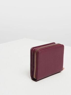 Classic Zip Mini Wallet, Prune, hi-res