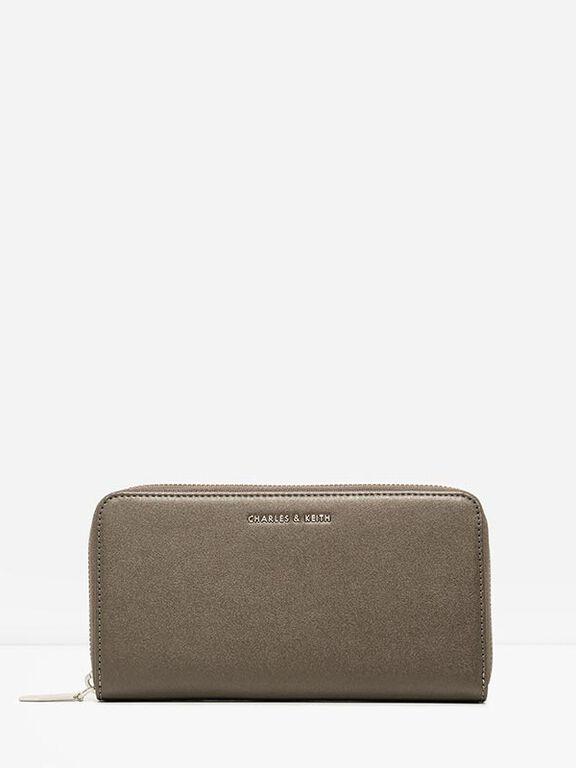 Mini Long Wallet, Pewter, hi-res