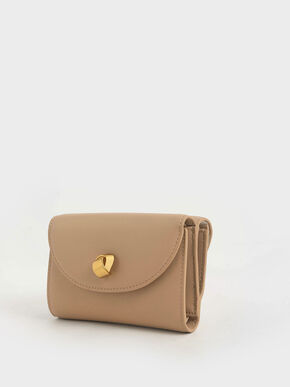 Mini Front Flap Wallet, Beige, hi-res