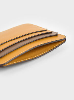 Two-Tone Multi-Slot Card Holder, Yellow, hi-res