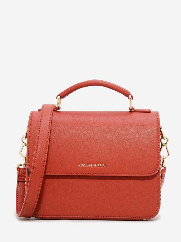 Front Flap Sling Bag, Brick, hi-res